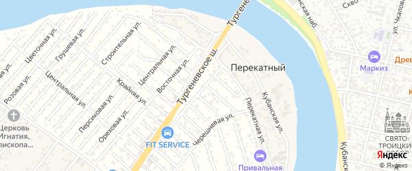 Земляничная улица на карте садового некоммерческого товарищества Зори Кубани с номерами домов