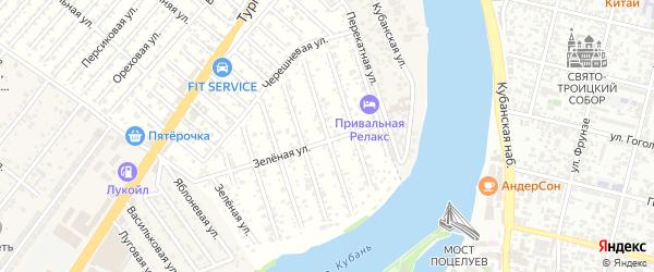 Разноцветная улица на карте садового некоммерческого товарищества Водхозовца с номерами домов