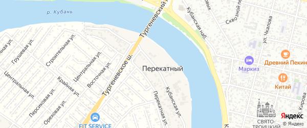 Кубанская улица на карте Перекатного поселка с номерами домов