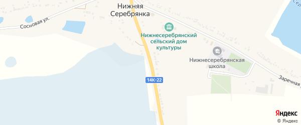 Луговая улица на карте села Нижней Серебрянки с номерами домов