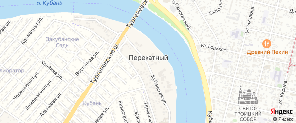 Дорога А/Д Подъезд к п. Перекатный на карте Перекатного поселка с номерами домов