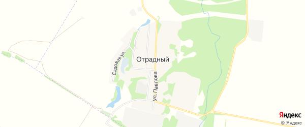 Карта Отрадного поселка в Адыгее с улицами и номерами домов
