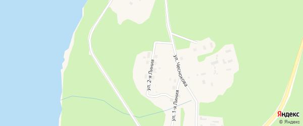 Улица 2 Линия на карте Каргополя с номерами домов