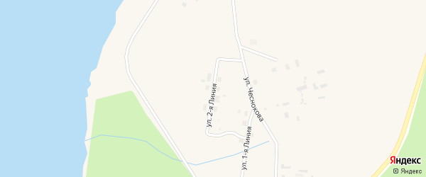 Улица 2-я линия на карте Белой деревни с номерами домов
