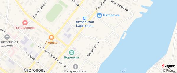 Пролетарский переулок на карте Каргополя с номерами домов