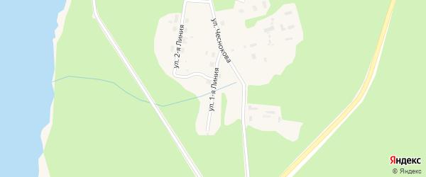 Улица 1 Линия на карте Каргополя с номерами домов