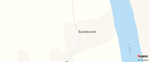 Архангельская улица на карте Быковской деревни с номерами домов