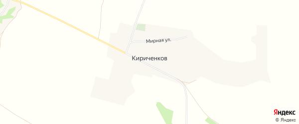Карта хутора Кириченкова в Белгородской области с улицами и номерами домов
