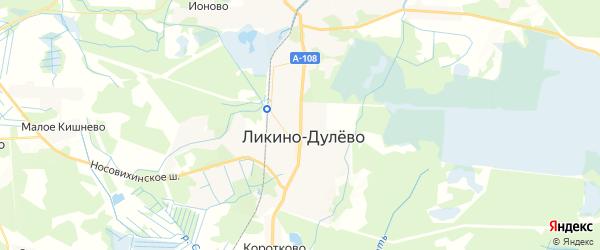 Карта Ликино-Дулево с районами, улицами и номерами домов