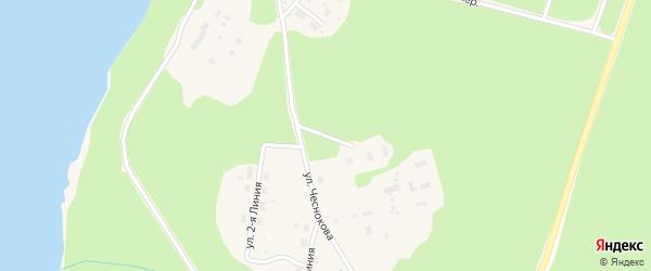 Улица 3 Линия на карте Каргополя с номерами домов