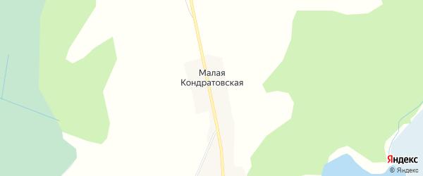 Карта Малой Кондратовской деревни в Архангельской области с улицами и номерами домов