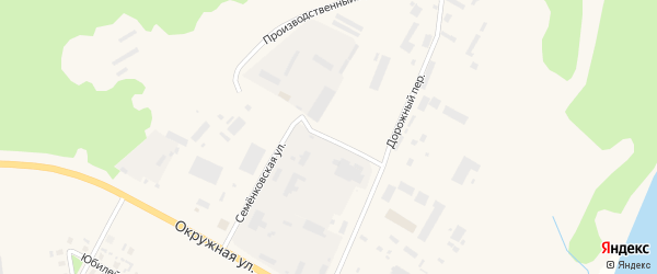 Дорожный переулок на карте Каргополя с номерами домов