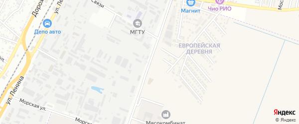 Восточная улица на карте аула Тахтамукая с номерами домов