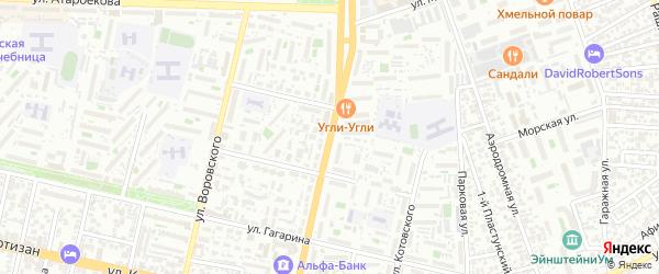 Улица им Тургенева на карте Краснодара с номерами домов