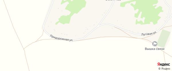 Придорожная улица на карте хутора Бабичева с номерами домов