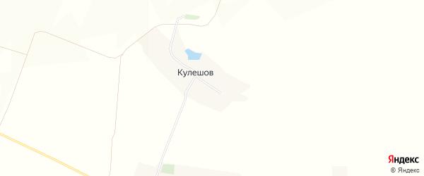 Карта хутора Кулешова в Белгородской области с улицами и номерами домов