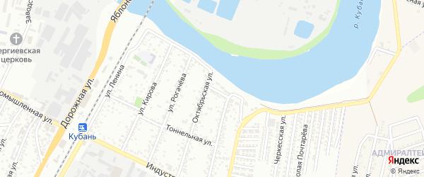 Нефтеперегонная улица на карте Яблоновского поселка с номерами домов