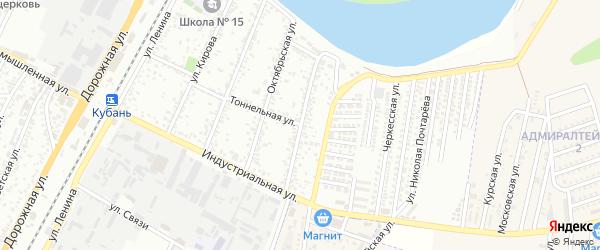 Восточная улица на карте Яблоновского поселка с номерами домов