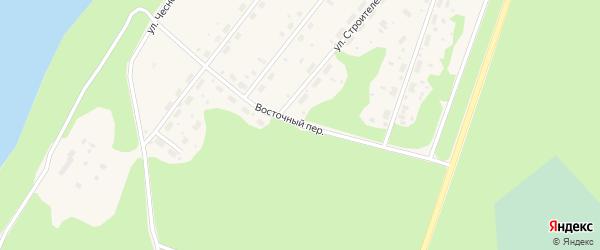Восточный переулок на карте Каргополя с номерами домов
