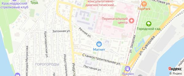 Речная улица на карте аула Козет с номерами домов