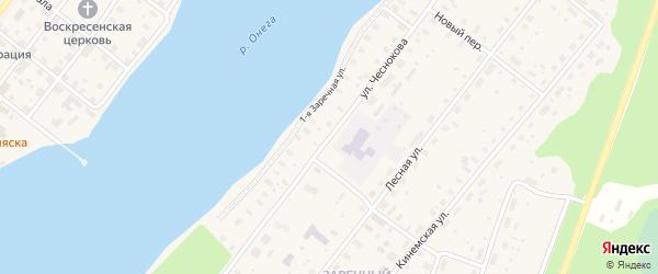 Улица Чеснокова на карте Каргополя с номерами домов