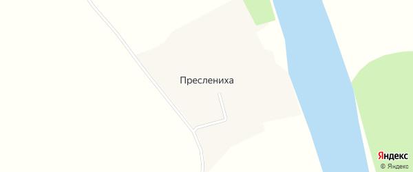 Береговой переулок на карте деревни Пресленихи с номерами домов