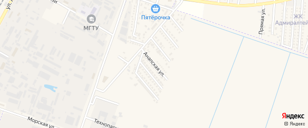 Анапская улица на карте аула Тахтамукая с номерами домов