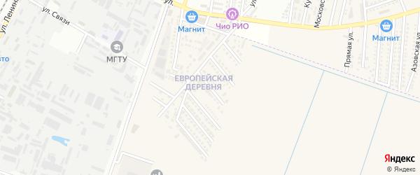 Российская улица на карте аула Тахтамукая с номерами домов