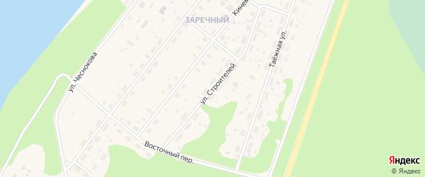 Улица Строителей на карте Каргополя с номерами домов
