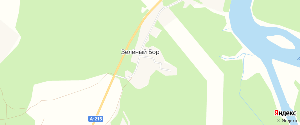Карта Зеленого поселка в Архангельской области с улицами и номерами домов