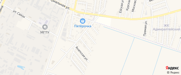 Туапсинская улица на карте аула Тахтамукая с номерами домов