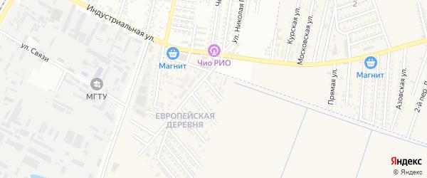 Сочинская улица на карте аула Тахтамукая с номерами домов