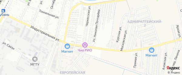 Набережная улица на карте садового некоммерческого товарищества Восхода 2 с номерами домов