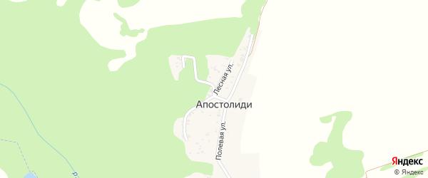 Лесная улица на карте хутора Апостолиди с номерами домов