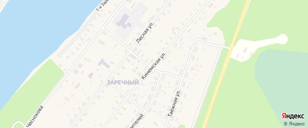 Кинемская улица на карте Каргополя с номерами домов