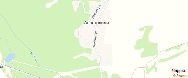 Полевая улица на карте хутора Апостолиди с номерами домов