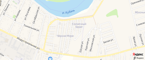 Кубанская Набережная улица на карте Яблоновского поселка с номерами домов