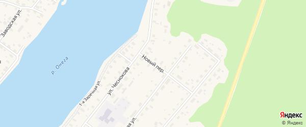 Новый переулок на карте Каргополя с номерами домов