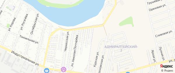 1-я Кубанская улица на карте Яблоновского поселка с номерами домов