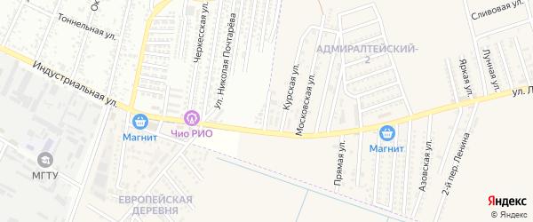 Ейская улица на карте аула Козет с номерами домов