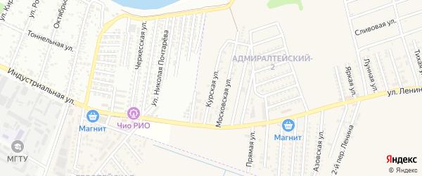 Курская улица на карте аула Козет с номерами домов