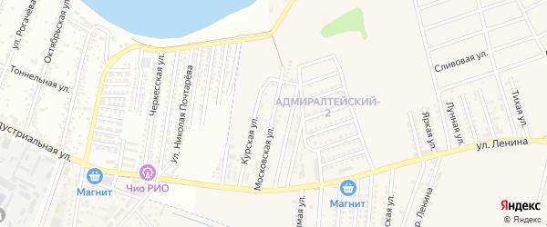 Московская улица на карте аула Козет с номерами домов