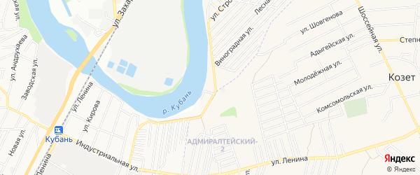 Карта садового некоммерческого товарищества Гиганта в Адыгее с улицами и номерами домов