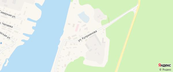 Улица Куприянова на карте Каргополя с номерами домов