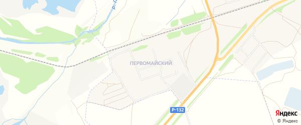 Карта Первомайского поселка города Михайлова в Рязанской области с улицами и номерами домов