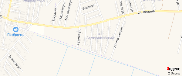Адмиралтейская улица на карте аула Козет с номерами домов