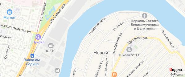 Пролетарская улица на карте Нового поселка с номерами домов
