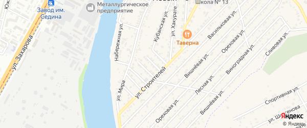 Строителей 2-й проезд на карте Нового поселка с номерами домов