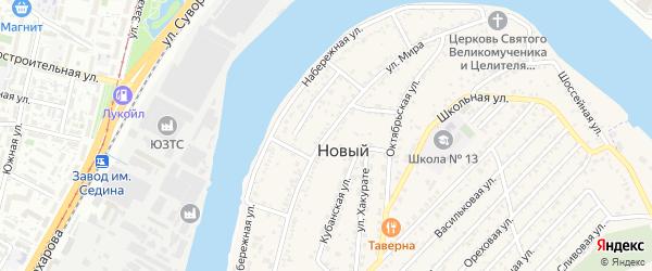 Улица Мира на карте Нового поселка с номерами домов