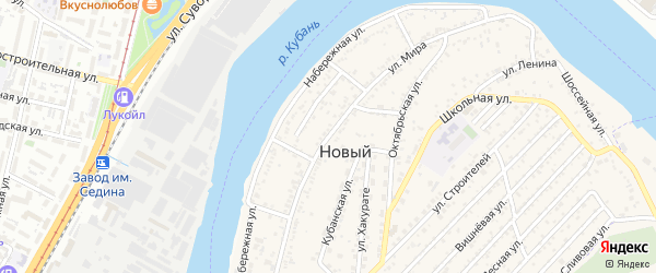 Улица Мира на карте садового некоммерческого товарищества Нового с номерами домов